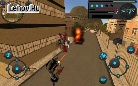 Robot Moto Revenge v 1.0 Мод (Large number of levels/skill points)