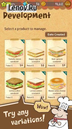 Happy Sandwich Cafe v 1.1.6.2 (Mod Money)