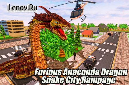 Furious Anaconda Dragon Snake City Rampage v 1.0 (Mod Money)