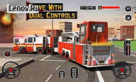Fire Truck Driving School: 911 Emergency Response v 1.1 Мод (Unlock all related cards and advertise)