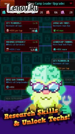 Clicker of the Dead - Zombie Idle Game v 1.0.25 Мод (Add 500k Gems/Chemicals/Energy/Food)