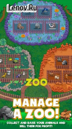 Idle Zoo Tycoon: Tap, Build & Upgrade a Custom Zoo v 1.1.11 Мод (Unlimited Gold/Gems)