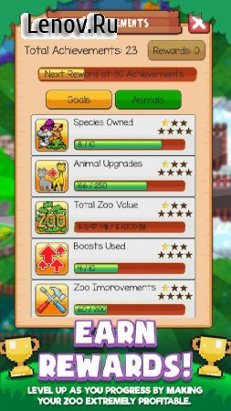 Idle Zoo Tycoon: Tap, Build & Upgrade a Custom Zoo v 1.1.9 Мод (Unlimited Gold/Gems)