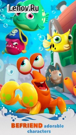 Undersea Match & Build v 1.0.5 Мод (Infinite Lives/Coins/Gems/100 Moves)