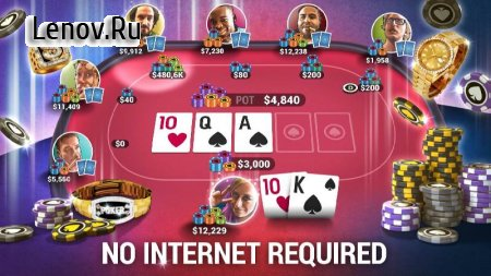 Poker World - Offline Texas Holdem v 1.8.20 Мод (Unlimited Chips/Infinite Tickets)