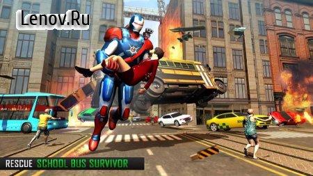 Super Captain Flying Robot City Rescue Mission v 1.1.4 (Mod Money)