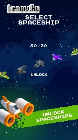 Orbit Rush - Pixel space shooter v 1.1 Мод (Ads-free)