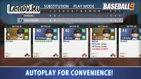 BASEBALL 9 v 1.1.7 Мод (gems/coins/resources)