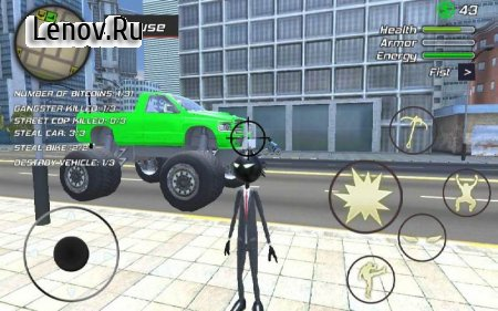 Amazing Crime Strange Stickman - Rope Vice Vegas v 1.0.8 Мод (Unlimited Money when killing the enemy)