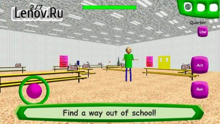 Baldi's Basics in Education v 1.3 Мод (Stop Baldi/Noclip/Playtime ignores you)