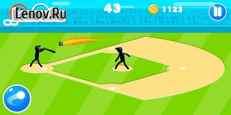 Stickman Baseball v 1.5 (Mod Money/Free Upgrade)
