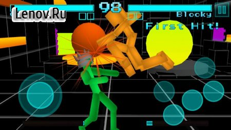 Stickman Fighting: Neon Warriors v 1.07 Мод (Free Shopping)