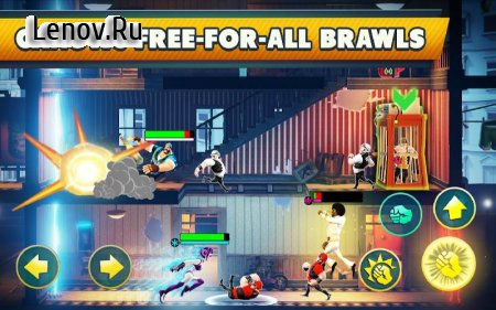 Mayhem Combat - Fighting Game v 1.5.4 Мод (Press back button on Device to Gain 1000 Zaps)