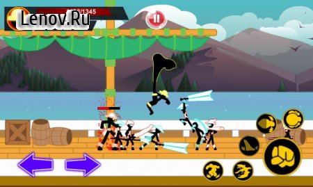 Stickman Hero - Pirate Fight v 1.2 Мод (Unlimited Gold/Coins/Gems)