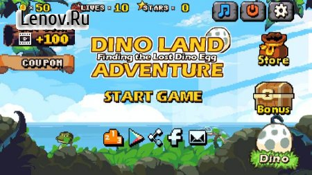 DINO LAND ADVENTURE : Finding the Lost Dino Egg v 0.8 (Mod Money)