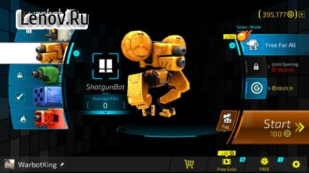 warbot.io v 1.2.2 Мод (Unlimited Ammo)