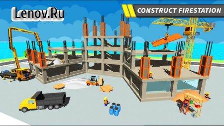 NY City Firefighter Station Craft & Simulation v 1.2 Мод (All Levels Unlocked)