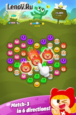 Momo Pop: Match 3 Hexa Blast! v 1.7.0 Мод (Unlimited coins/gems/Always 5 lives)
