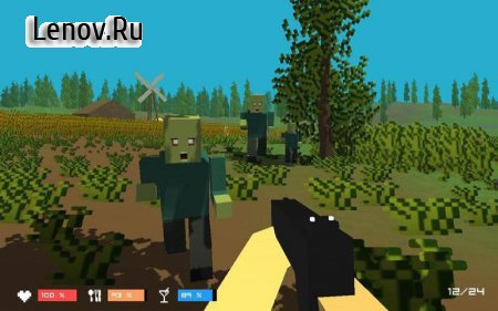 Pixel Wars Z:Gun Day & Night v 2.1 Мод (Unlimited Ammo)