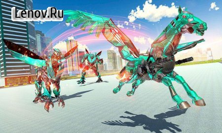 US Police Transform Robot Unicorn Flying Horse v 1.0.14 Мод (All Levels Unlocked)
