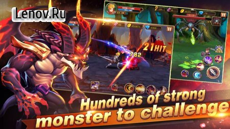 Brave Knight: Dragon Battle v 1.4.3 Мод (Free Shopping)