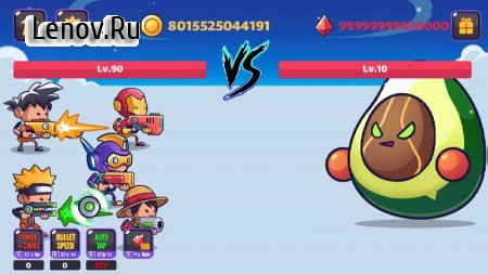 Tap Tap Stickman Heroes - Idle Fruit Monster Fight v 1.2 Мод (Unlimited Coins/Gems)
