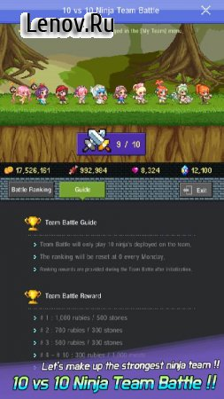 Hero Evolution 2 : Ninja Girls v 2.1.1 Мод (Unlimited Coins/Rubys/Meats/Stones)