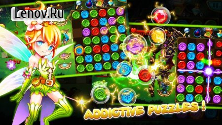 Gem Blitz: Match 3 RPG Games v 2.3 Мод (Unlimited Coins/Diamonds)