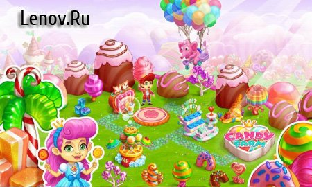 Candy Farm: Magic cake town & cookie dragon story v 1.27 Мод (Unlimited Gems/Coins)