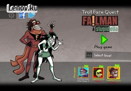 Troll Face Quest: Stupidella and Failman v 0.9.2 Мод (Unlocked)