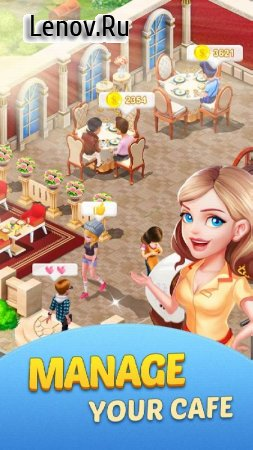 Dream Cafe: Cafescapes - Match 3 Crush v 1.0.23 Мод (Unlimited Live/Gold Coins/Stars)