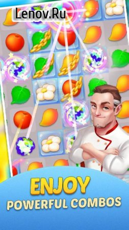 Dream Cafe: Cafescapes - Match 3 Crush v 1.0.21 Мод (Unlimited Live/Gold Coins/Stars)