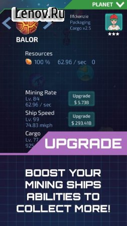 Idle Planet Miner v 1.5.6 Мод (много денег)