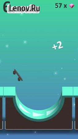 Flippy Skate v 1.0 Мод (Unlimited crystals/All skates unlockable)