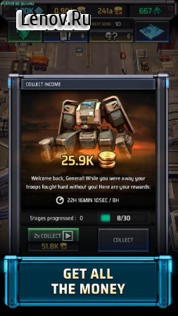 Idle War v 0.4.2 Мод (UNLIMITED FREE BOX/ONE HIT/DROP COIN X2)