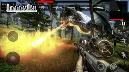 Dragon Hunter 2019 v 1.0.9 Мод (Unlock all guns/level)