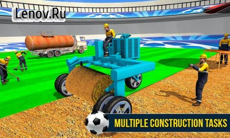 Football Stadium Builder 3D: Crane Operator Sim v 1.0.1 Мод (A large number of levels)