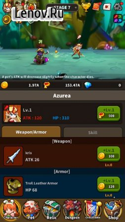 Infinite Dungeon Breach: Pet Raising Idle RPG v 2.1.7 Мод (One Hit/God Mode/Bypass check root)
