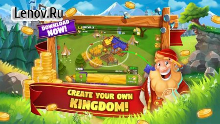 Idle Kingdom Builder v 1.24.7 Мод (Infinity Workers)
