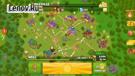 Idle Kingdom Builder v 1.23.1 Мод (Infinity Workers)