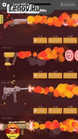 Gun Idle v 1.5 Мод (Gold coins)