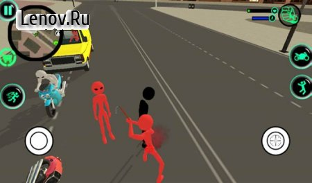 Stickman Gangsters City v 1.1.2 (Mod Money)