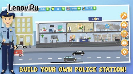 Police Inc: Idle police station tycoon game v 1.0.5 Мод (Unlimited Gold Coins/Diamonds)