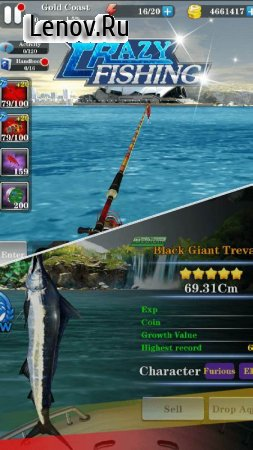 Crazy Fishing 3D v 1.1.1 Мод (Free Shopping)