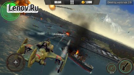 Gunship War: Total Battle v 1.1.6 Мод (Unlimited Gold Coins/Diamonds)