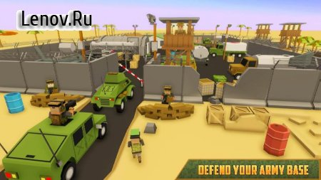 Blocky Army Base: Modern War Strike v 1.0 (Mod Money)