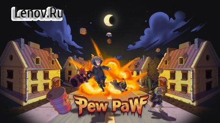Pew Paw - Zombie survival v 1.3.1 Мод (Gold coins/A large number of boxes)