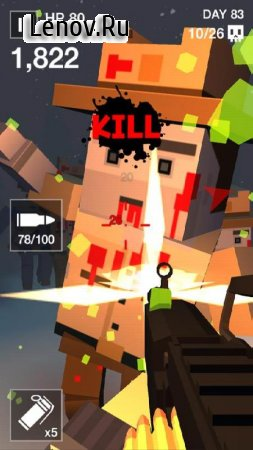 Cube Killer Zombie HD - FPS Survival v 1.0.2 Мод (Unlimited Gold Coins/Flash Bombs)