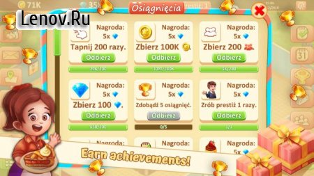 Idle Sweet Bakery - Cakes Factory v 1.12.1 Мод (Unlimited Cash/Diamonds)