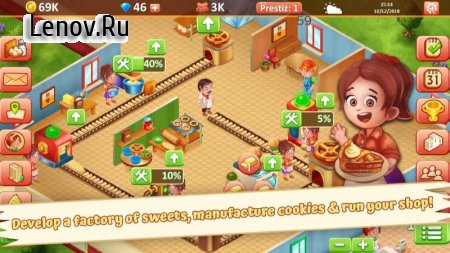 Idle Sweet Bakery - Cakes Factory v 1.13.2 Мод (Unlimited Cash/Diamonds)